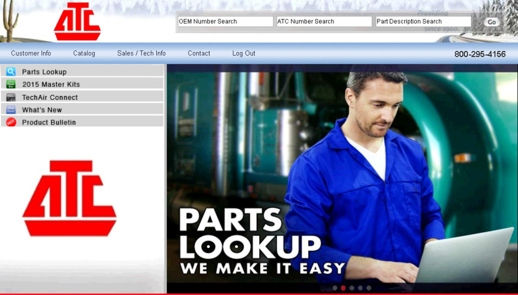 ATC CONNECT is a parts lookup and cross reference tool for All Make, HVAC Parts & Systems. Call 800-295-4156 for details.