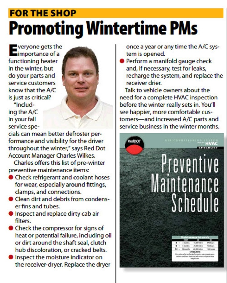 How to increase defroster performance and visibility for drivers. Do a wintertime PM's on your A/C system.