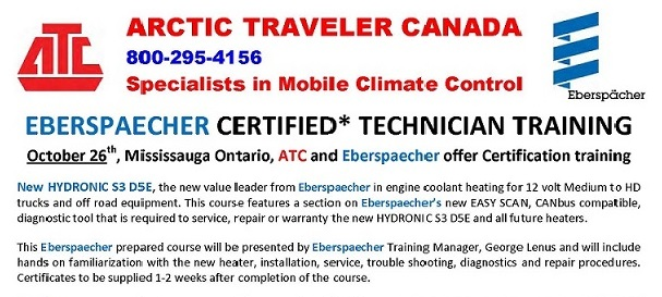 Arctic Traveler hosts Certified Technician Training by Eberspacher